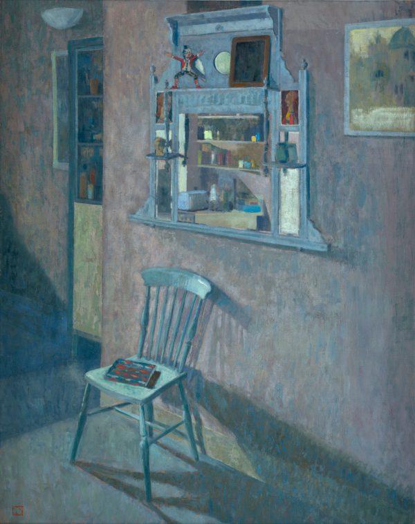 Blue Chair, Oil, Muslin on Panel, 97 x 76 cm
