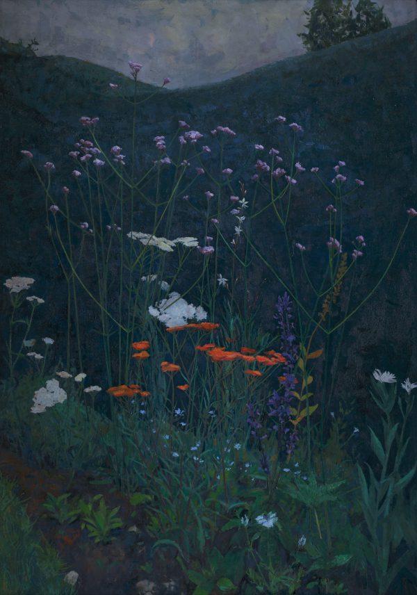 Evening Hymn, Oil on Gesso Panel, 94 x 66 cm