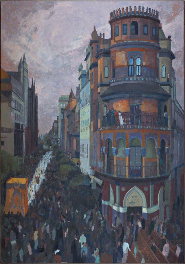 Procession, Oil on Gesso Panel, 102 x 71 cm