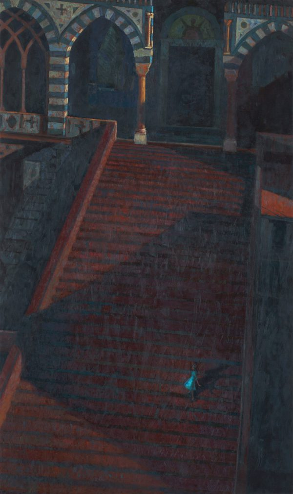 Into the Night II, Oil on Gesso Panel, 125 x 74 cm