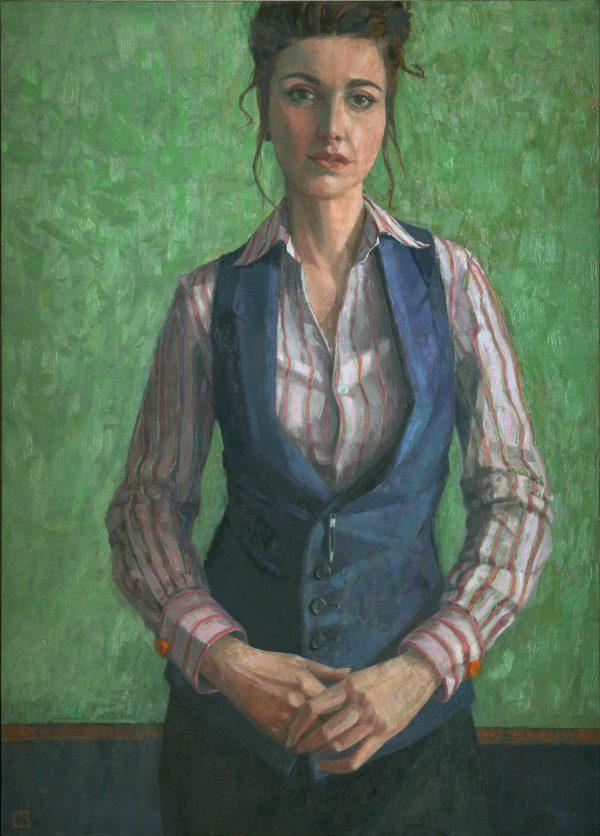 Self Portrait, Oil on Gesso Panel, 70 x 50 cm