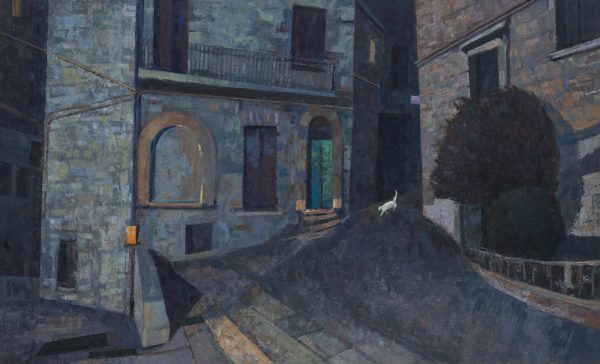 Via Baldini, Oil, Linen on Panel, 47 x 77 cm