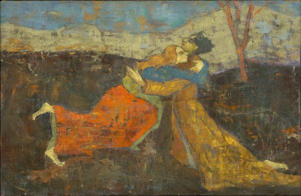 Embrace, Oil on Gesso Panel, 20 x 30 cm