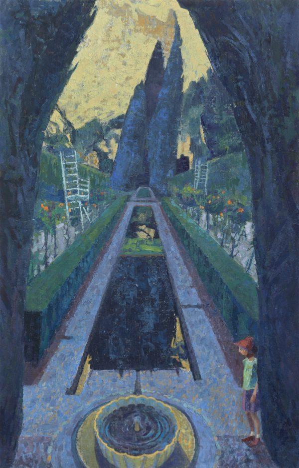 Enchanted Garden, Oil, Linen on Panel, 57 x 37 cm