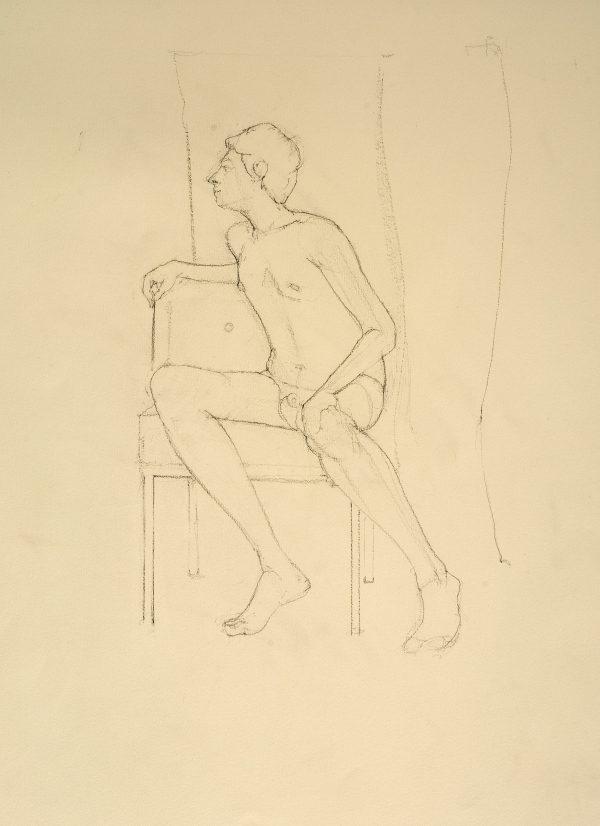 The Italian Student, Conte, 60 x 40 cm