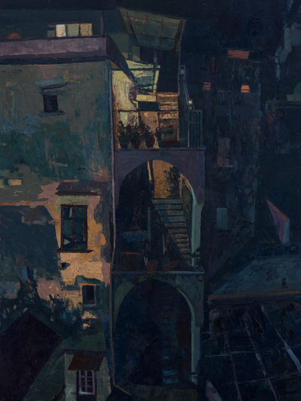 Amalfi, Night, Oil on Gesso Panel, 40 x 30 cm