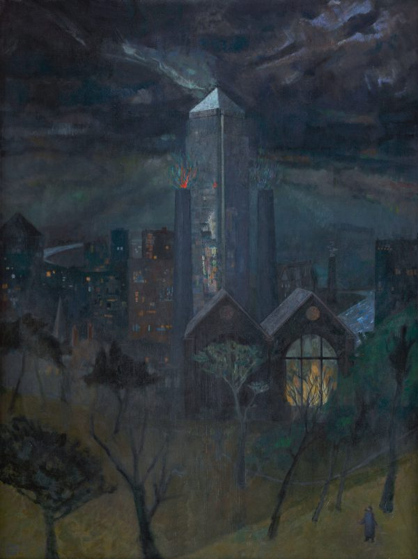Tower, Oil on Linen, 92 x 122 cm