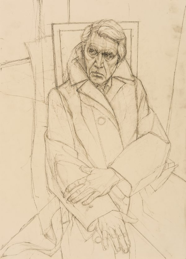 Study for Don McCullin Portrait, Graphite, 59 x 42 cm