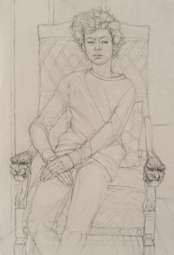Gabriel, Pencil, 55 x 38 cm