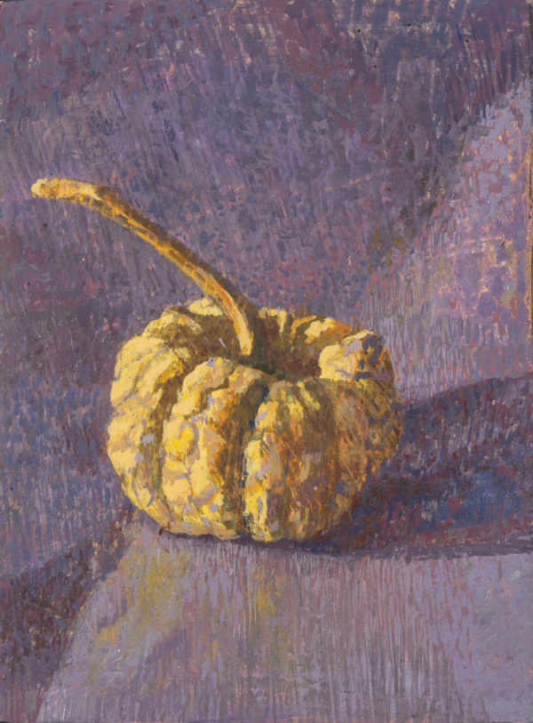 Gourd, Tempera on Gesso Panel, 18 x 14 cm