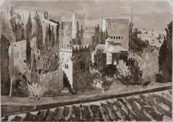 Granada study, Indian Ink, 29.5 x 42 cm