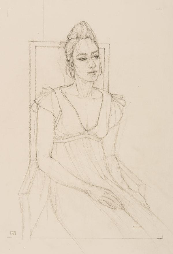 Maggie, Graphite, 59 x 42 cm