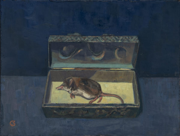 Shrew, Oil on Gesso Panel, 18.5 x 14 cm