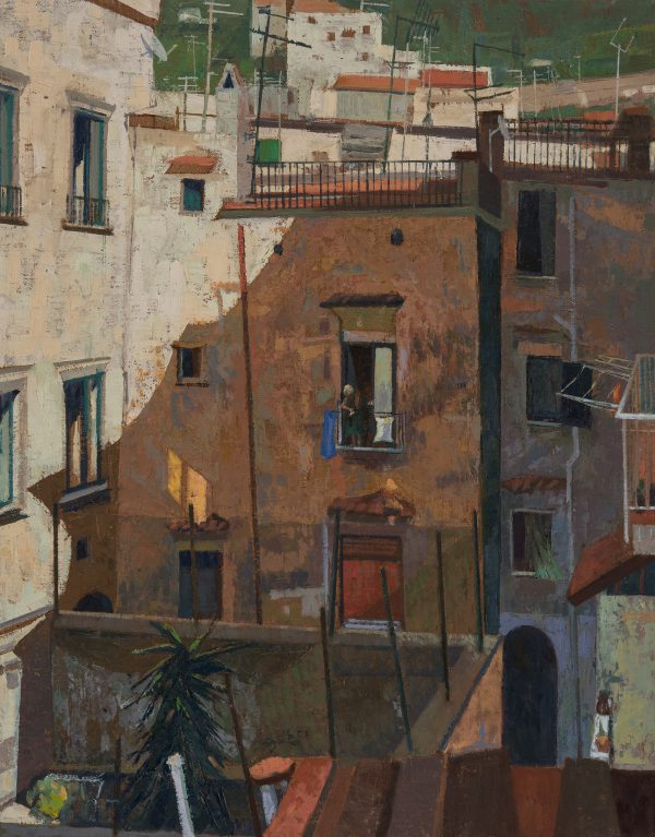 Amalfi Courtyard, Oil, Linen on Panel 62 x 52 cm